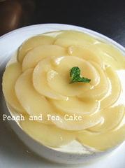 桃と紅茶のケーキ