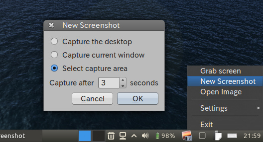 Screenshot Ubuntu 画面キャプチャ 時間を遅らせて撮影する
