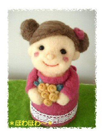 ローズ色ドレスの女の子1
