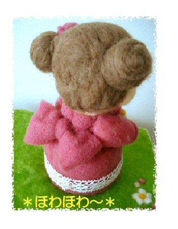 ローズ色ドレスの女の子2